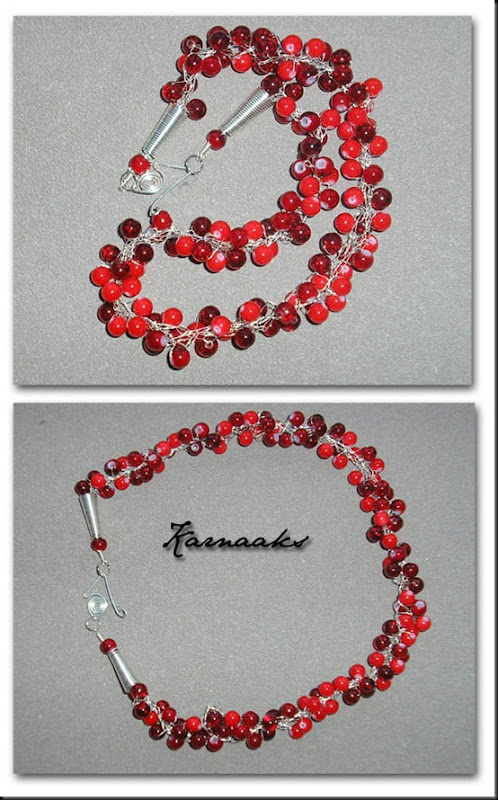 crochet necklace red