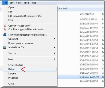 file-menu-delete-for-deleting-file