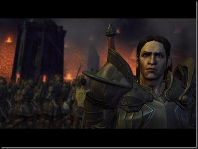 Con ello completó su heroica traición al rey Cailan y su heroico golpe de estado en el reino.