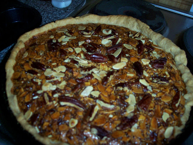 Pecan And Brandied Fig Pie