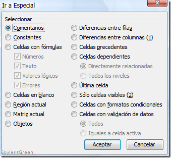 Soylent Green (El blog de Excel en español): SELECCIONES SELECTIVAS ...