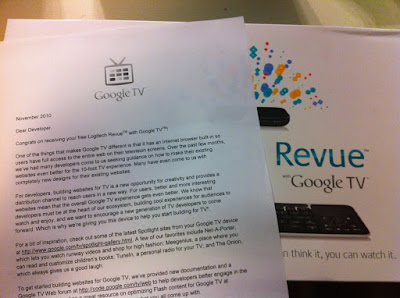 Google TV Letter
