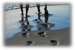 fotspor i sand ny