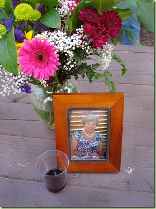 Wine and flowers for Mom