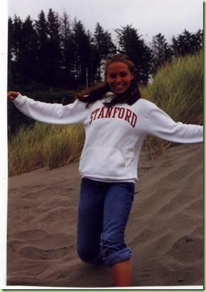 Elisabeth on dunes