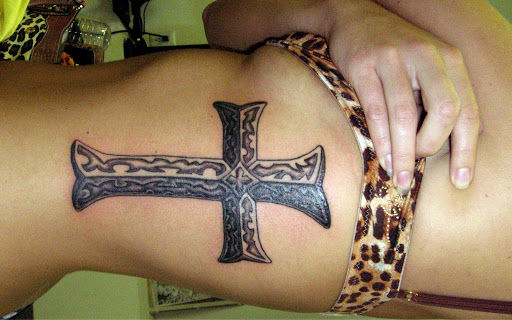 Cross Tattoos On Ribs