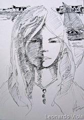 Desenho A Navegante do artista  Leonardo Viola