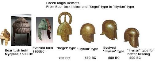 origen del casco griego