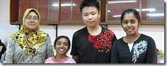 Haslindah, Nithyalakshmi Sivanesa,Yap Wan Lin, Pavitranayagi Jayamurthey