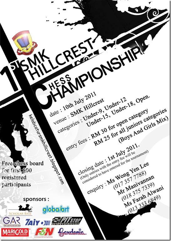 hillcrest chess open poster