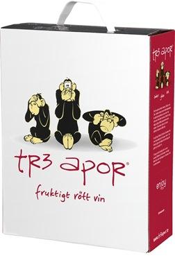 Tre Apor rött