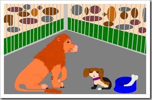 Лев и собачка рисунок