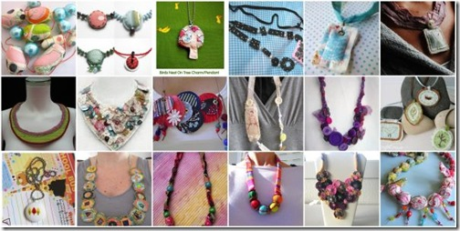 Fabric Necklace - Flickr mosaic