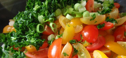 Veggies for Tabbouleh