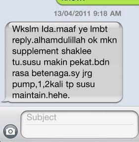 Testimonial vitamin shaklee untuk penyusuan susu ibu