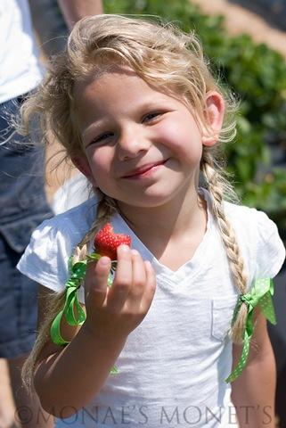 Erika eating a berry blog