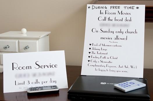 Room Service blog