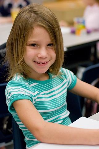 Brooke in classroom blog