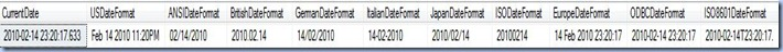 Date SQL Server formatting