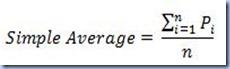 AVG - Simple Average