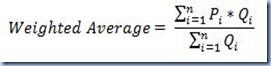 AVG - Weighted Average