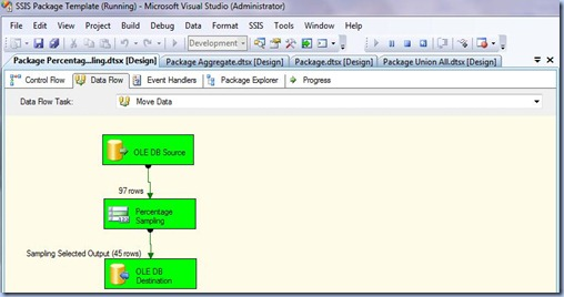 SSIS - Percentage Sampling Data Flow