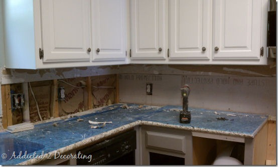 J a kitchen and family room updates for Removing backsplash tile from sheetrock