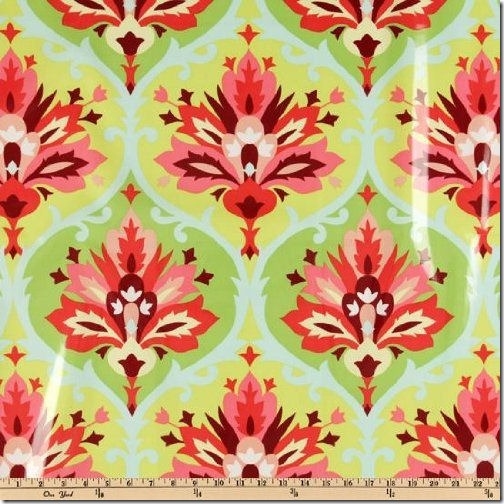 floral option 1--amy butler trumpet flowers in pink