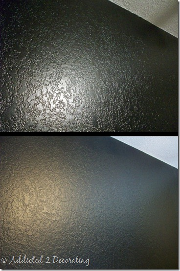 Out of curiosity paint sheen for Flat black wall paint