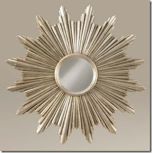 labarge sunburst mirror with silver leaf finish