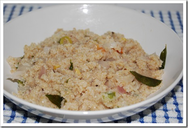 Godumai rava upma in microwave 