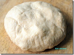 after 15 min ,kneaded dough