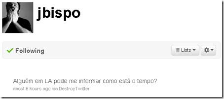 Bispo Twitter