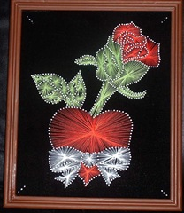 Розы, изонить
