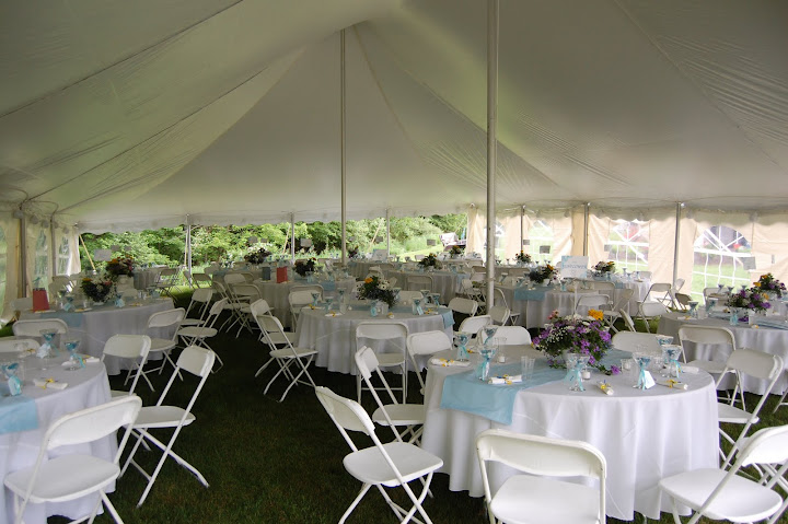 at home tented wedding