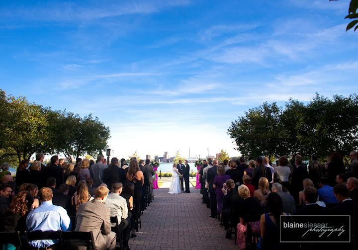 Wedding at the Rattlesnake Club in Detroit, MI