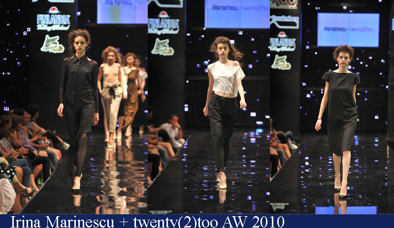 Irina Marinescu + twenty(2)too Toamna-Iarna 2010 Romanian Fashion Week Iasi
