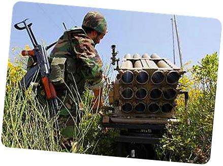 combatiente_Hezbola_junto_lanzacohetes