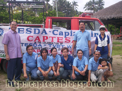 CAPTESA President Dr. Expedito A. Seneres with TESDA Provincial Director Victor Gallego and Staff of TESDA Capiz Provincial Office during the CAPTESA Day at Flatrock Beach Resort