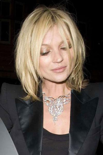 medium shag hairstyles. Kate Moss - medium length shag layered haircuts