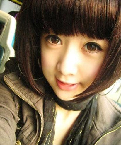 have spikes and highlight the bangs. Cute Asian girls short hair style