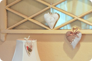 hearts on wall