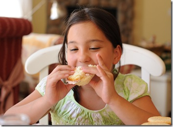 A cupcake sandwich