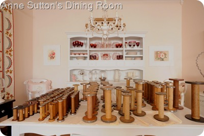 Spools in the Dining Room