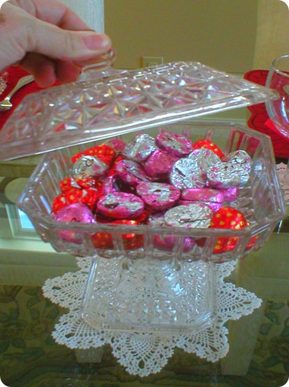 Valentines Day bridal box, open