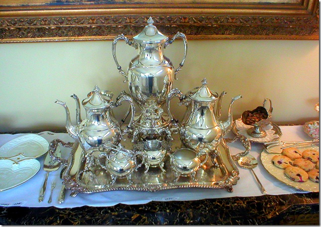Riverton book review, tea service