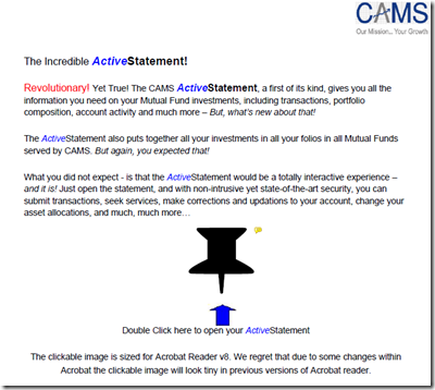 cams active statement