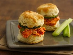 Buffalo Chicken Biscuit Sliders