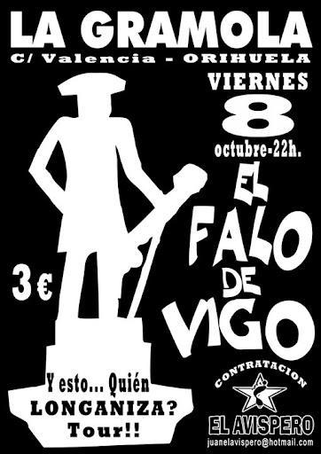 Cartel para la actuación de El Falo de Vigo en La Gramola de Orihuela