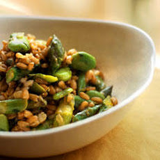 Farro Risotto with Asparagus and Fava Beans Recipe